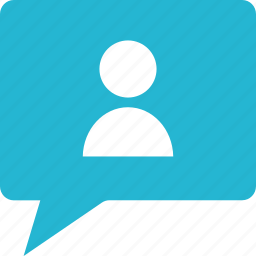bubble, chat, education, learning, person, school, sms icon