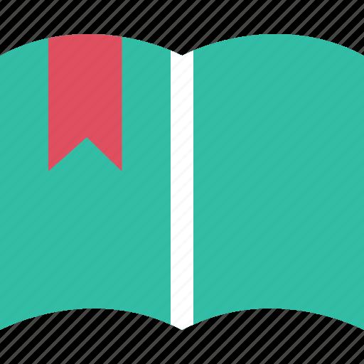 book, bookmark, education, learning, ribbon, school icon