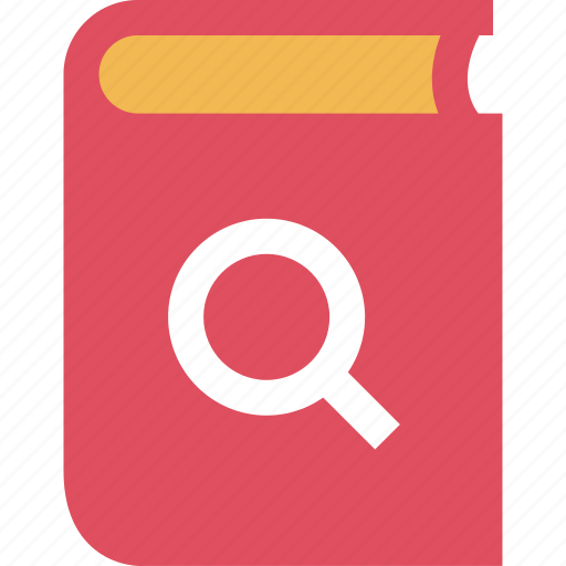 book, chapter, education, learning, school, search icon