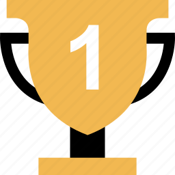 education, learning, number, one, school, trophy icon