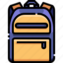 backpack, bag, education, school, university icon