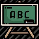 blackboard, chalkboard, class, classroom, education, school icon