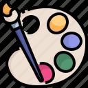 art, artist, paint, painter, painting, palette icon