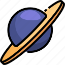 astronomy, planet, saturn, solar, space, system, universe icon