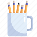 education, material, office, pencil, school, stationery, tools icon