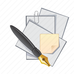 documents, note, paper, pen, pencil icon