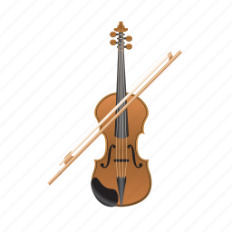 instrument, melody, music, musical, violin icon