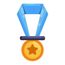 champion, education, learning, medal, school, study icon