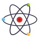 atomic, book, education, learning, school, study icon