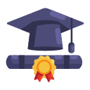 education, graduation, learning, school, study icon
