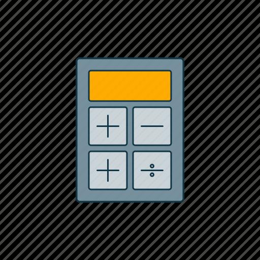 accountant, algebra, arithmetic, calculator, color icon
