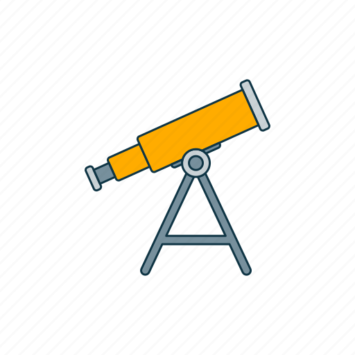 astronomy, color, optical, telescope icon