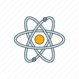 atom, color, molecule, physics icon