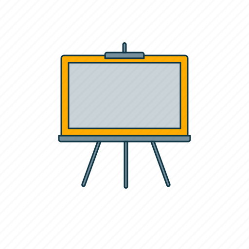 blackboard, color, education, school icon