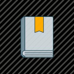 book, bookmark, color, literature icon
