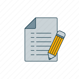 clipboard, color, list, sheet icon