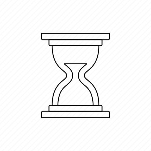 history, hourglass, outline icon
