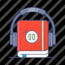 audio, audio learning, audio lesson, audiobook, digital learning, elearning, learning icon