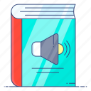 audio learning, audio lesson, audiobook, digital learning, elearning, modern education icon