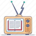 channel, educational, educational channel, educational media, educational transmission, online study, tv channel icon
