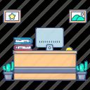 admin office, headquarter, office, principal, principal desk, principal office, principal room icon