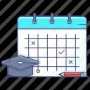 almanac, calendar, daybook, reminder, schedule planner, study, study plan icon