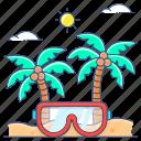 beach enjoyment, beach vacations, summer, summer holidays, summer time, summer vacations, vacations icon