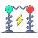 coil, electrical resonant, experiment, physics, tesla, tesla coil, transformer circuit icon
