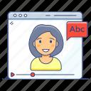 online tutorial, online video, training, training video, video streaming, video tutorial, video website icon