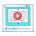 elearning, online learning, online tutorial, online video, video, video lesson, video tutorial icon