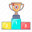champion, leaderboard, podium, position podium, winner, winner podium icon