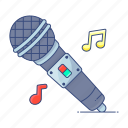 colloquially, electronic mic, input device, media, microphone, singing mic, wireless icon