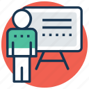 blackboard, classroom, presentation, teacher, whiteboard icon