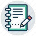 jotter, notebook, notepad, notes, writing pad icon