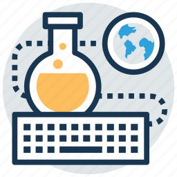 lab test, online lab, online science education, physical science, science experiment icon