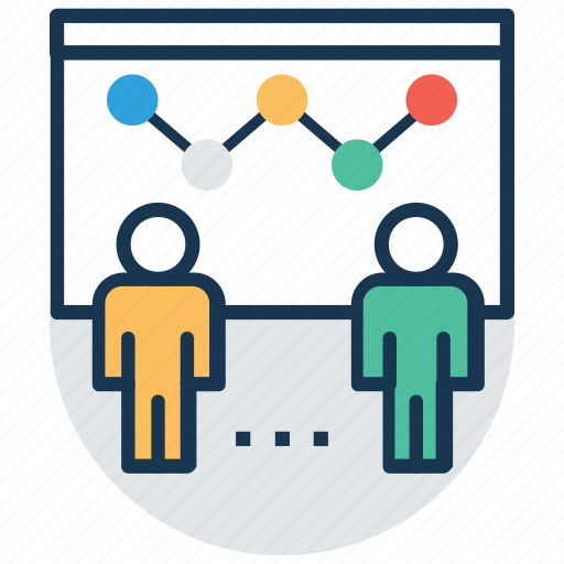 business analysis, business graph, flipchart, graphic presentation, statistics icon