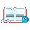 education, study, learning, book, open book icon