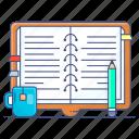 notebook, drafting pad, jotter, writing pad, notepad