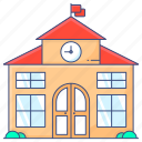 school, university, educational institute, educational building, academic university icon