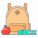 school, bag, backpack, school bag, shoulder bag, knapsack icon