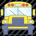 school, bus, school bus, transport, autobus, motorbus, motorcoach icon
