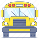 school, bus, school bus, transport, autobus, motorbus, motorcoach