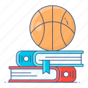 sports, education, sports education, sports learning, sports books, textbook, guidebook icon