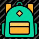 school, bag, backpack, education