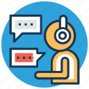 client support, customer representative, help center, helpline, online support icon