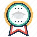 academic excellence, academic success, achievement, educational reward, graduation award icon