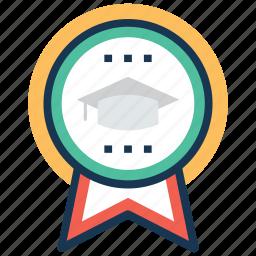 academic excellence, academic success, achievement, educational reward, graduation award icon