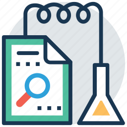 hypothesis, lab experiment, lab research, research book, scientific research icon