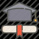 degree, diploma, certificate, graduation
