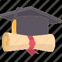 diploma, certificate, graduate, education, college